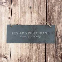 Personalised Engraved Slate Door Plaque