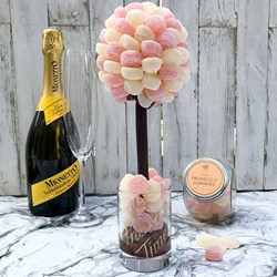 Personalised Fizzy Prosecco Sweet Tree