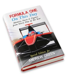 Personalised Formula 1 On This Day Book