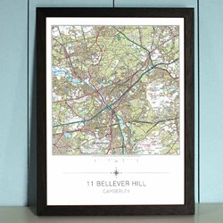 Personalised Framed OS Map