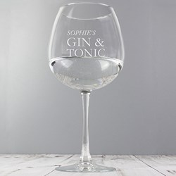 Personalised Gin & Tonic Glass | Essential for a G&T drinker