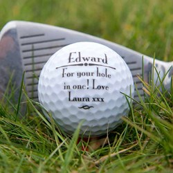 Personalised Golf Ball | Sure to score a hole in one!