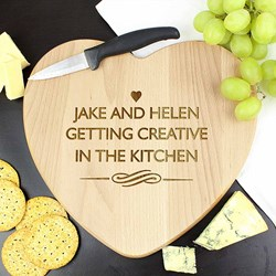Personalised Heart Chopping Board   Wooden Chopping Board