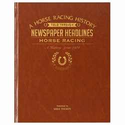 Personalised Horse Racing History Book