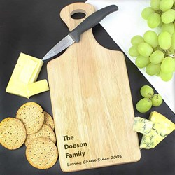 Personalised Large Paddle Chopping Board