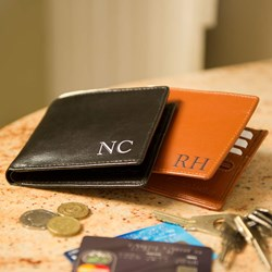 Personalised Leather Wallet | Available in Black &Tan