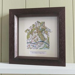 Personalised Map Memories - House Design | Two Frame Options