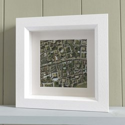 Personalised Map Memories - Square | Two Frame Options Available