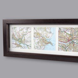 Personalised Map Memories Trio | 3 Lovely Square Maps