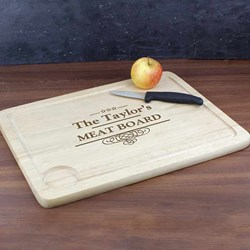 Personalised Meat Carving Board | Wooden Carving Board