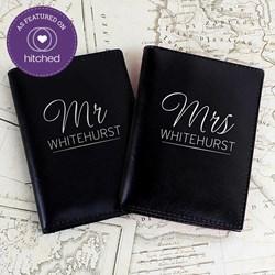 Personalised Mr & Mrs Passport Holders | Set of Two