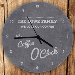 Personalised O'clock Slate Clock