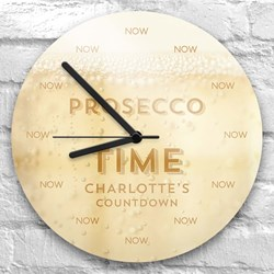 Personalised Prosecco Time Clock   Exclusive to Present Finder!