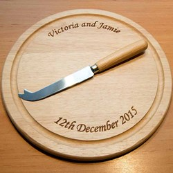 Personalised Round Chopping Board | Wooden Chopping Board