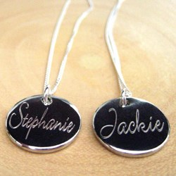 Personalised Script Charm Necklace