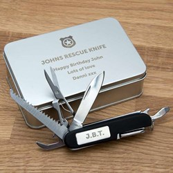 Personalised Shield Pen Knife and Box Set | 11 Functions