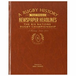 Personalised Six Nations Rugby History Book