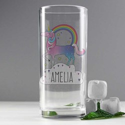 Personalised Unicorn Drinking Glass