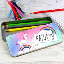 Personalised Unicorn Pencil Case & Pencils