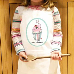 Personalised Vintage Cupcake Children's Apron | For a Mini Masterchef!