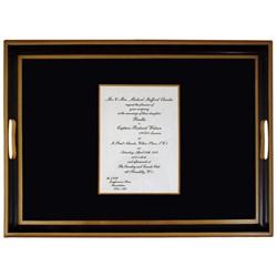 Personalised Wedding Tray using an invitation