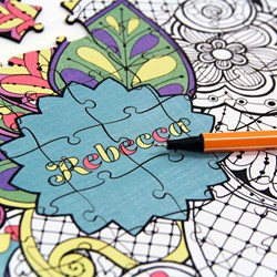 Personalised Colour Your Own Puzzle | Adult Colouring Puzzle