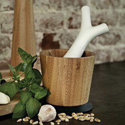 Pesta: Mortar & Pestle | For Fresh Herbs Or Pesto
