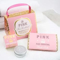 Pink Fizz Lip Balm & Bath Salts Gift Handbag