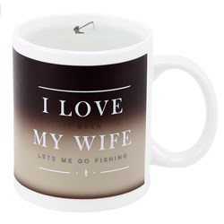Secret Fisherman Heat Changing Mug | I love it when my wife........