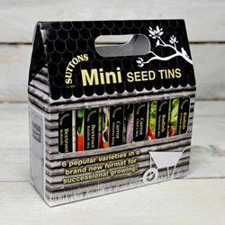 Suttons Root Vegetable Mini Seed Tins