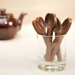 Set of 10 Belgian Milk Chocolate Spoons