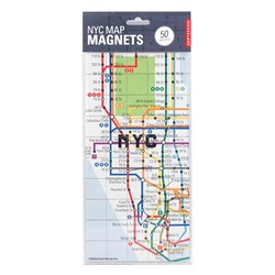 City Map Fridge Magnets | Paris & NYC
