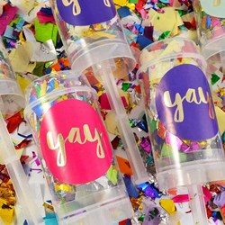 Sparkling Confetti Push Poppers | Set Of Six
