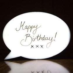 Speech Bubble Light Up Box
