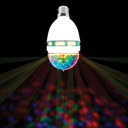 Spinning LED Party Bulb | Multicoloured Light