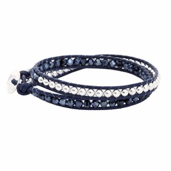 Starry Twist Navy Bracelet | Boho Betty