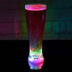 Multi Coloured Strobing Beer Glass