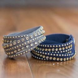 Studded Wrap Bracelet | Available in Mink Grey or Navy