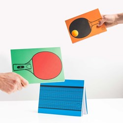 Table Tennis Notepads | 2 Bats & 1 Net