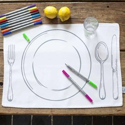 The Doodle Placemat To Go | Portable Doodle Kit