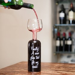 The Wine Bottle Glass | Holds a whole bottle