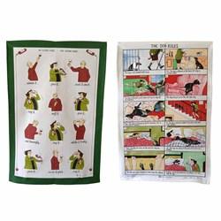 Tottering Tea Towels - Wine & The Dog Set | Special Offer Bundle!