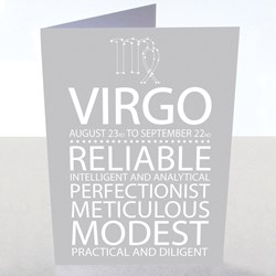 Virgo Star Sign Card | August 23rd - September 22nd