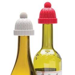 Wine Beanie Bottle Stoppers | Set of Two