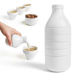 With Milk Stackable Tea Set