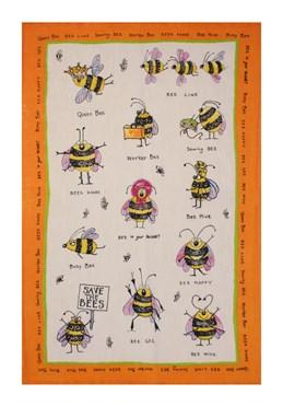 Funny Bees Tea Towel
