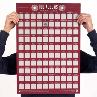 100 Albums Scratch Off Bucket List