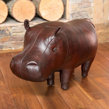 Handmade Leather Hippo - Medium