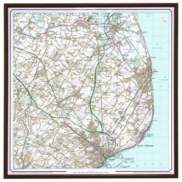 Framed Ordnance Survey Map