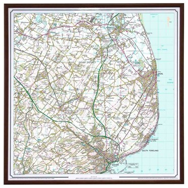 Personalised Framed Ordnance Survey Map